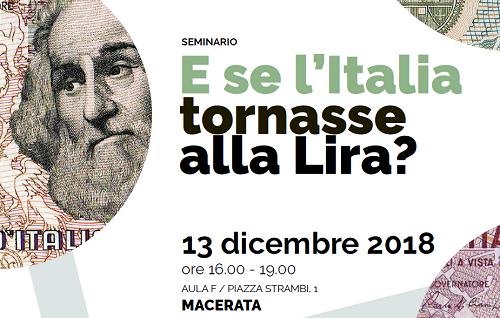 SEMINARIO. E se l'Italia tornasse alla Lira ?